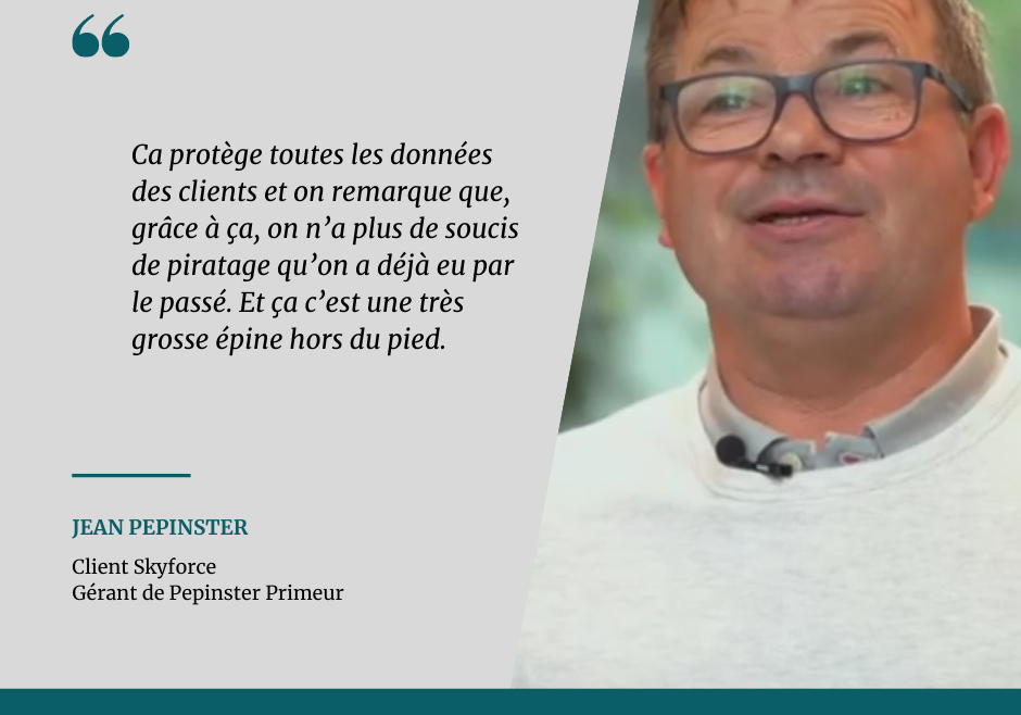 Témoignage client – Jean Pepinster